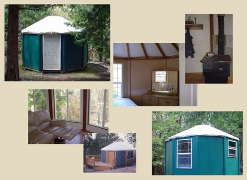 Portable Yurt Kit on wood panel yurts